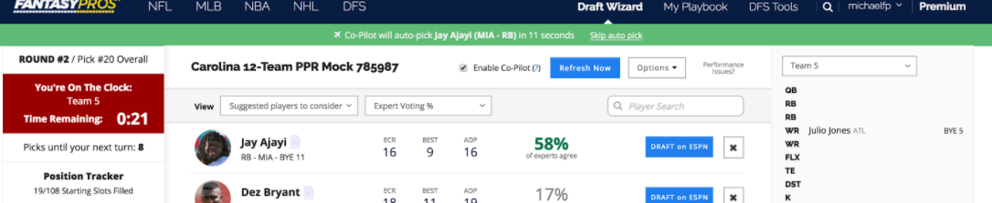 What is the Live Sync Draft Assistant CoPilot for ESPN FantasyPros